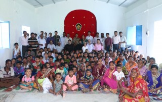 Mission Field - West Bengal - Chapel, Missionaries and Believers